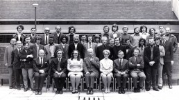 Aeronautical engineering , class of 1972. Professor Tokaty (centre). Photo also includes Professor Buchanan, Dr Wright, Sadi Ridah, Dr. Williams and Peter Voke.