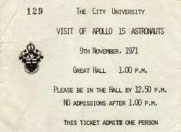 Invitation to the Apollo astronauts visit.