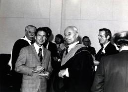 Professor Tokaty with the Apollo astronauts.